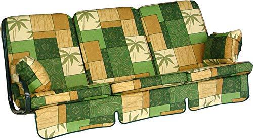 Angerer 1020/072 Exklusiv-Schaukelauflage, 3-Sitzer Design Mexiko, grün