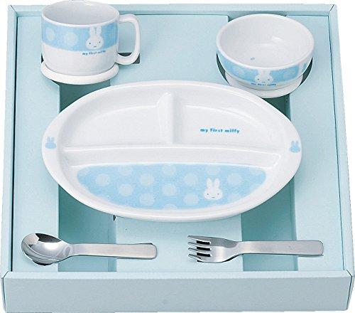 金正陶器 マイファースト ミッフィー こども食器セット ブルー 406750 離乳期に合わせてお使いいただける食器セット