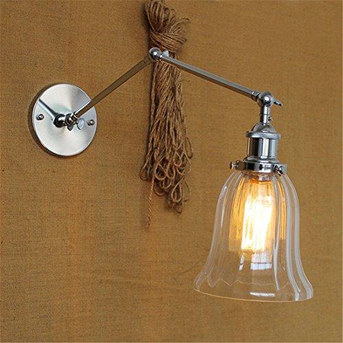 YU-K antieke wandlamp industriële ijzeren wandlampen voor buiten terras tuin hek waterdicht licht, zilver