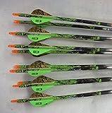 Velocity Valkyrie XT Gold Tip 400 Carbon Arrows w/Blazer Vanes Blaze...