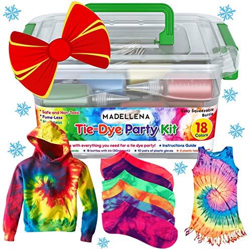 Tie Dye Kit, Tye Dye, Tie Dye Kits for Kids, Tie Dye Kits for Adults, All Inclusive Party Kit, Craft Kits for Girls, Beginner Friendly - Just Add Water