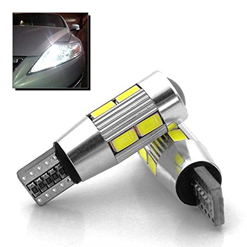 Ociodual 2 x Veilleuses T10 W5W 10 SMD LED Canbus Anti Erreur ODB Blanc Xenon Lumière