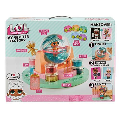 L.O.L. Surprise, DIY Glitter Factory - fabrique pour relooker ta Poupée 8cm, Accessoires et contenants, Fonction Eau Surprise, Jouet pour Enfants dès 3 Ans, LLU68