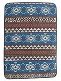 Ruth&Boaz Outdoor Wool Blend Pet Blanket Ethnic Inka Pattern (K-Blue)