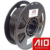 AIO Robotics Premium 3D Drucker Filament, PLA, 0,5 kg Spule, Genauigkeit +/- 0,02 mm, Durchmesser 1,75 mm, Schwarz -