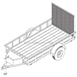 5′ x 10′ Utility Trailer Plans – 3,500 lb Capacity | Trailer Blueprints Model U60-120-35J