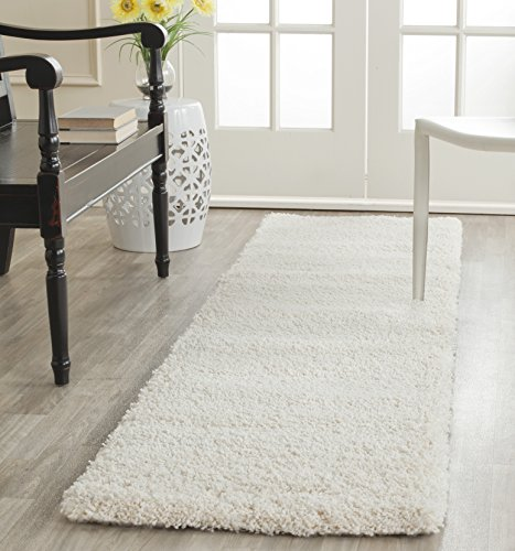 Safavieh Milan Shag Collection SG180-1212 2-inch Thick Area Rug, 2' x 4', Ivory