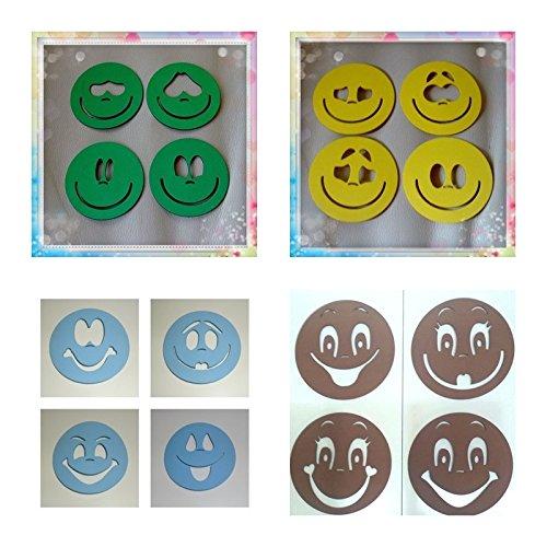 Plantillas para pintar caras de fofuchas para bolas de porex de 8 cm