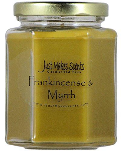 Just Makes Scents Frankincense & Myrrh Scented Blended Soy Candle (8 oz)