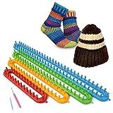 Soled¨¬- Kit para tejer, aguja de tejer, para hacer calcetines, gorros, mantones, capas, bufandas, multiusos, telar de pl¨¢stico