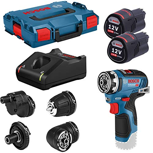 avis perceuse visseuse rapport professionnel Bosch Professional06019H3000 Cordless Drill / Driver GSR12V-35 FC, with 2 batteries 3.0Ah…