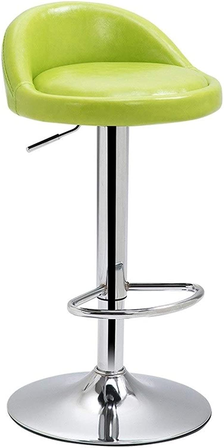 redating Lift Back Bar Chair, Leather Section Easy to Clean, Can be Placed On The Foot, The Seat Can be Adjusted 60-80cm (color   C)