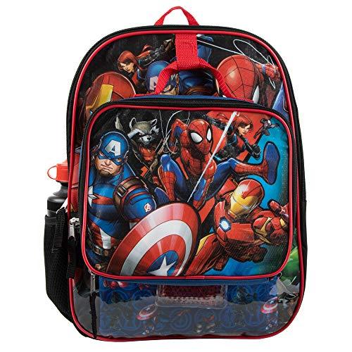 Marvel Comic Book Universe Superheroes 5-Piece Backpack Set