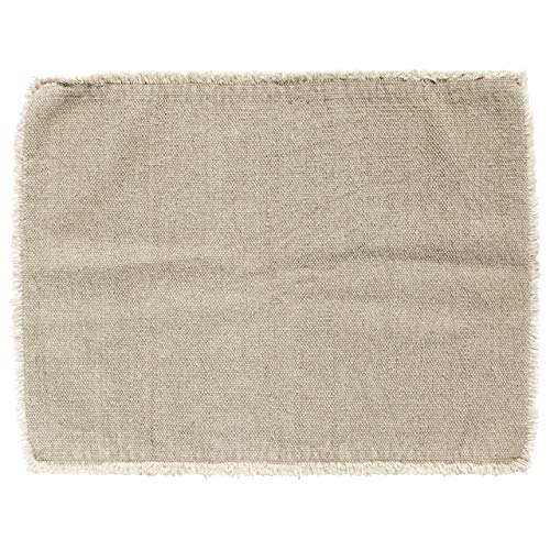 Nordal Placemat, Light Grey, raw Edging
