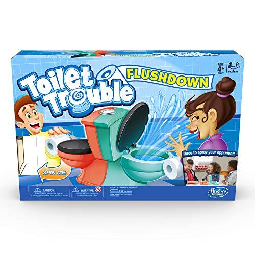 Hasbro Gaming Toilet Trouble Flushdown Kinder Spiel Wasserspray ab 4 Jahren
