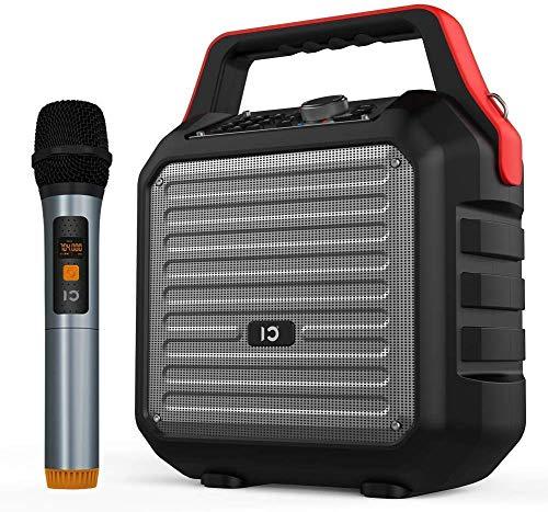 SHIDU Altavoces Bluetooth con micrófono de mano Sistema de PA portátil...