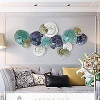 創造的な手作りの葉の金属の壁の芸術、抽象的な花の立体壁の装飾研究のためのリビングルームの寝室のアートワークホテルの装飾屋内屋外