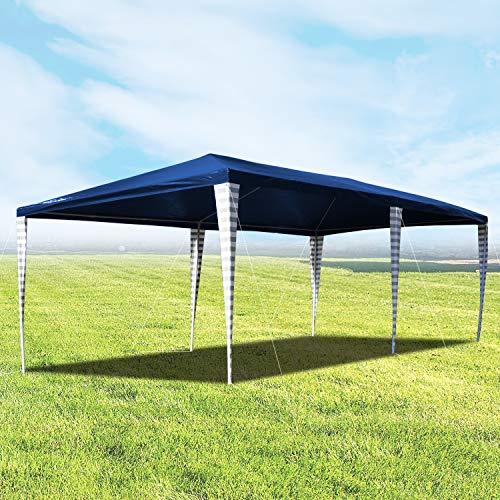 Hengda Cenador de jardín 3 x 6 m con protección UV para Fiestas, Carpa para Bodas y Fiestas al Aire Libre, jardín, Acampada, Azul