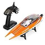 URVP Top High Speed Yacht RC Racing Boat 30MPH Rechargeable Rc Boat 2.4G jet-ski Electric Remote control ship Rc Boat for Pools and Lakes Fastest Rc Racing Pool Boat Speed Boat Gift