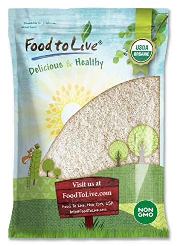 Organic Long Grain White Rice, 8 Pounds - Non-GMO, Kosher, Vegan, Raw, Bulk