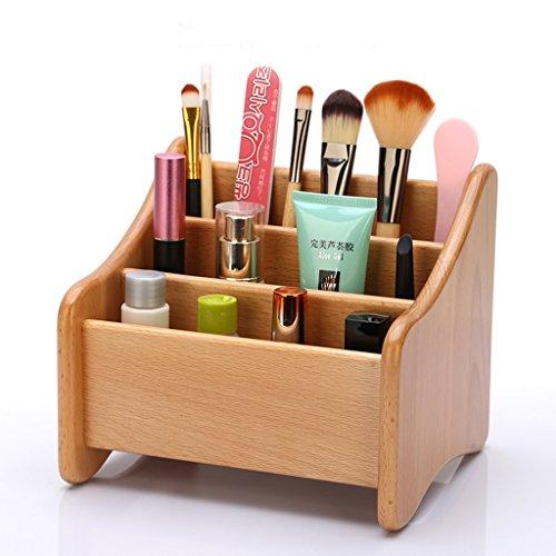 Boîte de rangement à télécommande en bois massif Bureau de bureau en bois créative Boîte de rangement à finition de bureau Salon Table basse Tablette de rangement