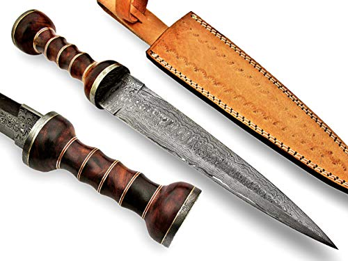 REG-M-22 Custom Handmade Damascus Steel- 15.1' Inches Hunting Knife.