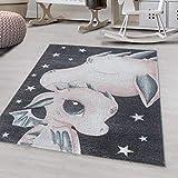 Ayyildiz - Alfombra para niños, diseño de dragón, color rosa, 200 x 290 cm
