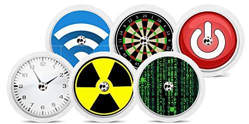"Diasticker® | Freestyle Libre Adesivo - 6er Set""Boys II"" | Adesivo in vinile per sensore di Freestyle Libre, Sticker, capteur"