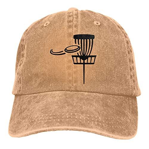N/A Sombrero De Sol,Dad Hat,Ocio Sombrero,Sombrero De Deporte,Sombreros Sombrilla Al,Canasta De Golf De Disco con Discos Voladores Gorra De Béisbol De Mezclilla Jeanet Sombrero Ajustable para Papá