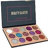 ROMANTIC BEAR 15 Farben Schimmer Glitzer Diamond Rainbow Pigment Lidschatten Palette Nude Beauty...