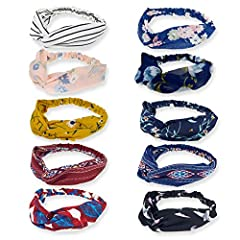 "GOOD and bad hair days how to wear them, Fabric hair bands that are comfortable and versatile, Without getting a headache from plastic ones. Girth 17""; wide 3""-4.5"", length 9.4"" can be stretched up to 12""; wide headbands one size fit most, elastic, v..."