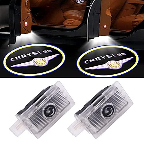 2PCS for Chrysler Car Door LED Logo Lights, 3D Ghost Shadow Light Wireless Welcome Courtesy Projector Light Fit for 200 300 Sebring