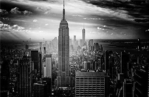 Città In Bianco E Nero New York Paesaggio Architettonico Il Puzzle In Legno Giocattoli Educativi Per Bambini Per Adulti 1500 Pezzi Bambino Fai Da Te Modern Wall Art Regalo Unico Decorazioni Casa