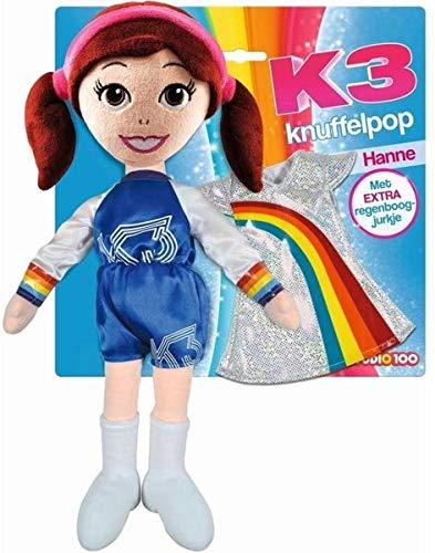 K3 Knuffelpop met extra kleedje - 40cm - Hanne