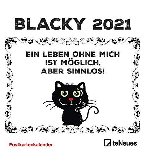 Blacky 2021 - Postkarten-Kalender – Kalender-mit-Postkarten - zum-raustrennen - 16x17