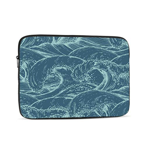 Macbook 15 Cover Cool Waves Tsunami Sea Scenery Line Macbook A1466 Case Multi-Color & Size Choices10/12/13/15/17 Inch Computer Tablet Briefcase Carrying Bag