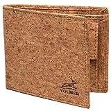 Monedero delgado de piel auténtica, muy cómodo y muy estable, #Easycomfort Beige corcho Triffold