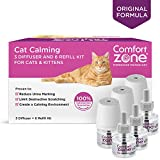 Comfort Zone Calming Diffuser Kits for Cat Calming, 3 Diffusers, 6 Refills