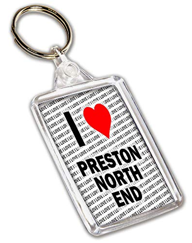 I Love Preston North End Keyring - Gift - Birthday - Christmas - Stocking Filler