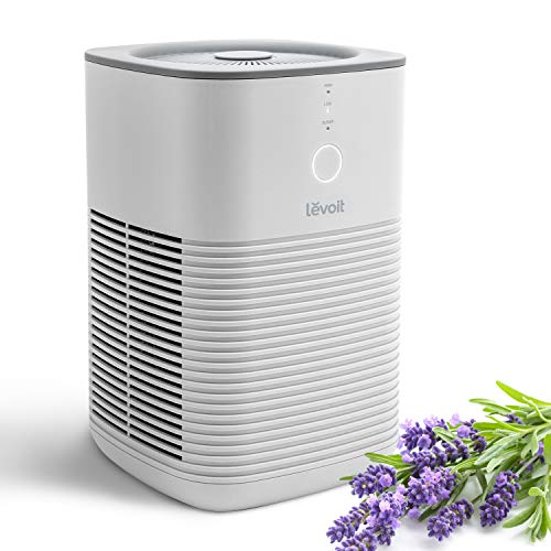 LEVOIT Air Purifier for Home Bedroom, HEPA Air Fresheners Filter, Small Room Air Cleaner with Fragrance Sponge for Smoke, Allergies, Pet Dander, Odor, Dust Remover, Office, Desktop, Table Top