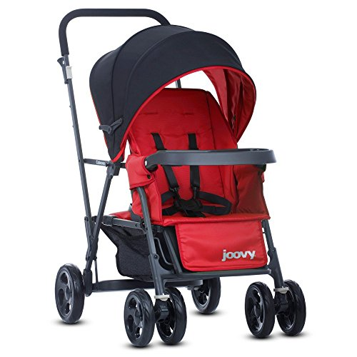 Joovy Caboose Graphite Stand On Tandem Stroller, Red