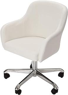 デスクチェア スタイリッシュ 全5色 ホワイト 在宅勤務 テレワーク にも [ 待合椅子 ラウンジチェア ネイルスツール ネイルチェア 昇降式 キャスター付き サロン スツール イス 椅子 チェア チェアー 背もたれ付き インテリア 1人掛け ]