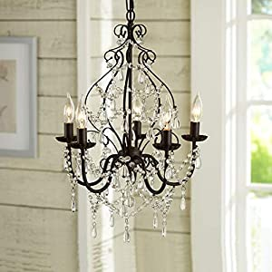 Aero Snail North American Country Style Crystal 5-Light Chandelier Lighting Metal Pendant Lamp (with Detailed Installation Manual)