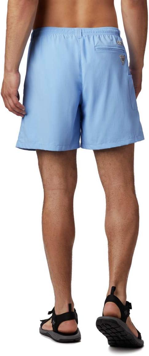 Columbia heren PFG Backcast Iii Water Big athletische shorts Witte pet
