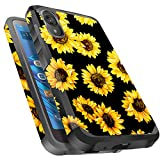 Miss Arts Moto E6 Case, Slim Anti-Scratch with [Drop Protection] Cute Girls Women Heavy Duty Dual Layer Protective Cover Case for Motorola Moto E6 -Sunflower