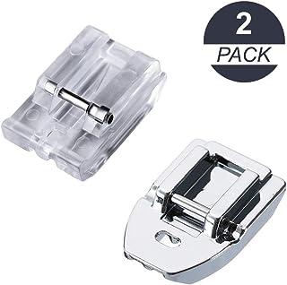 La Canilla ® - Kit 2 Prensatelas de Cremalleras Invisibles para Máquinas de Coser Alfa, Singer, Brother, Juki, Lidl (Snap-On) Universales