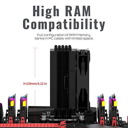 upHere 5 Heatpipes 120 mm PWM CPU Cooler Gaming Fan Kühler für Intel & AMD