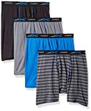 Hanes Men's X-Temp Lightweight Mesh Stripe Boxer Brief 4-Pack, Assorted Solids, Medium, assorted solids/stripes