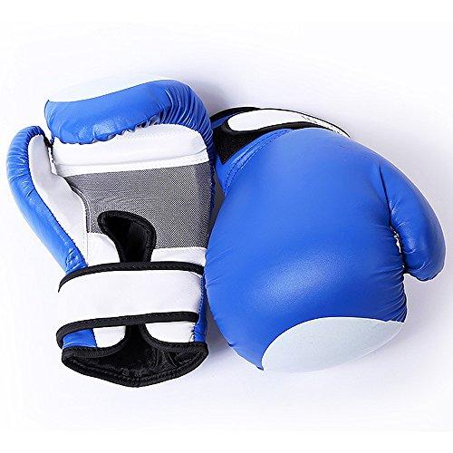Guantoni da Boxe Guantoni da Boxe Training Sparring Guanti da Pugilato Guanti in Pelle di Mucca Muay Thai Guanti da Borsone Kickboxing può Essere Usato per Vari Scopi (Color : Blue)