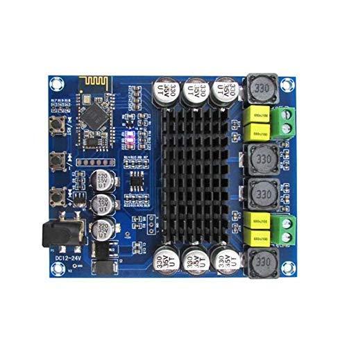 ARCELI Amplificador de Potencia Digital Bluetooth TPA3116D2 TPA3116D2 de Dos Canales 240W (120W2) XH-M548, Tablero de Amplificador de Audio inalámbrico, con Estuche acrílico